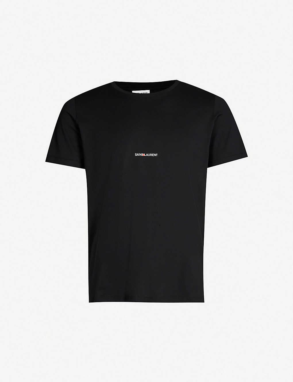 a171133240b SAINT LAURENT - Logo-print cotton-jersey T-shirt | Selfridges.com