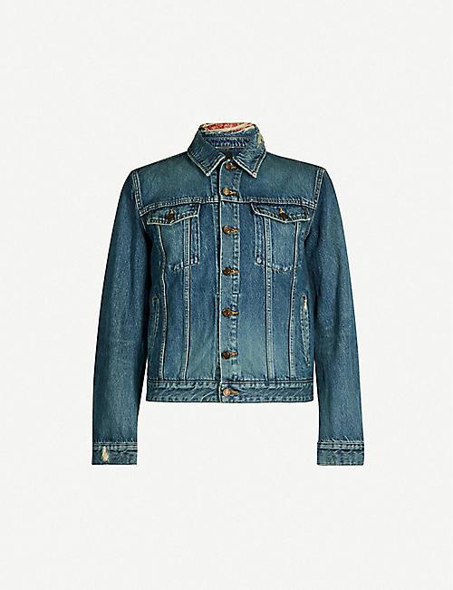 6e73522bd3 SAINT LAURENT Ripped denim jacket