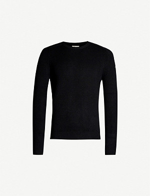 SAINT LAURENT Badge sleeve cashmere jumper