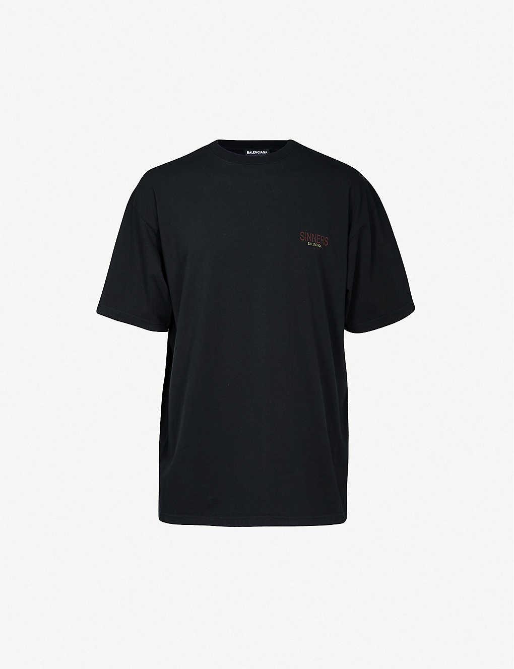 29b9daf2baba BALENCIAGA - Sinners-print cotton-jersey T-shirt | Selfridges.com