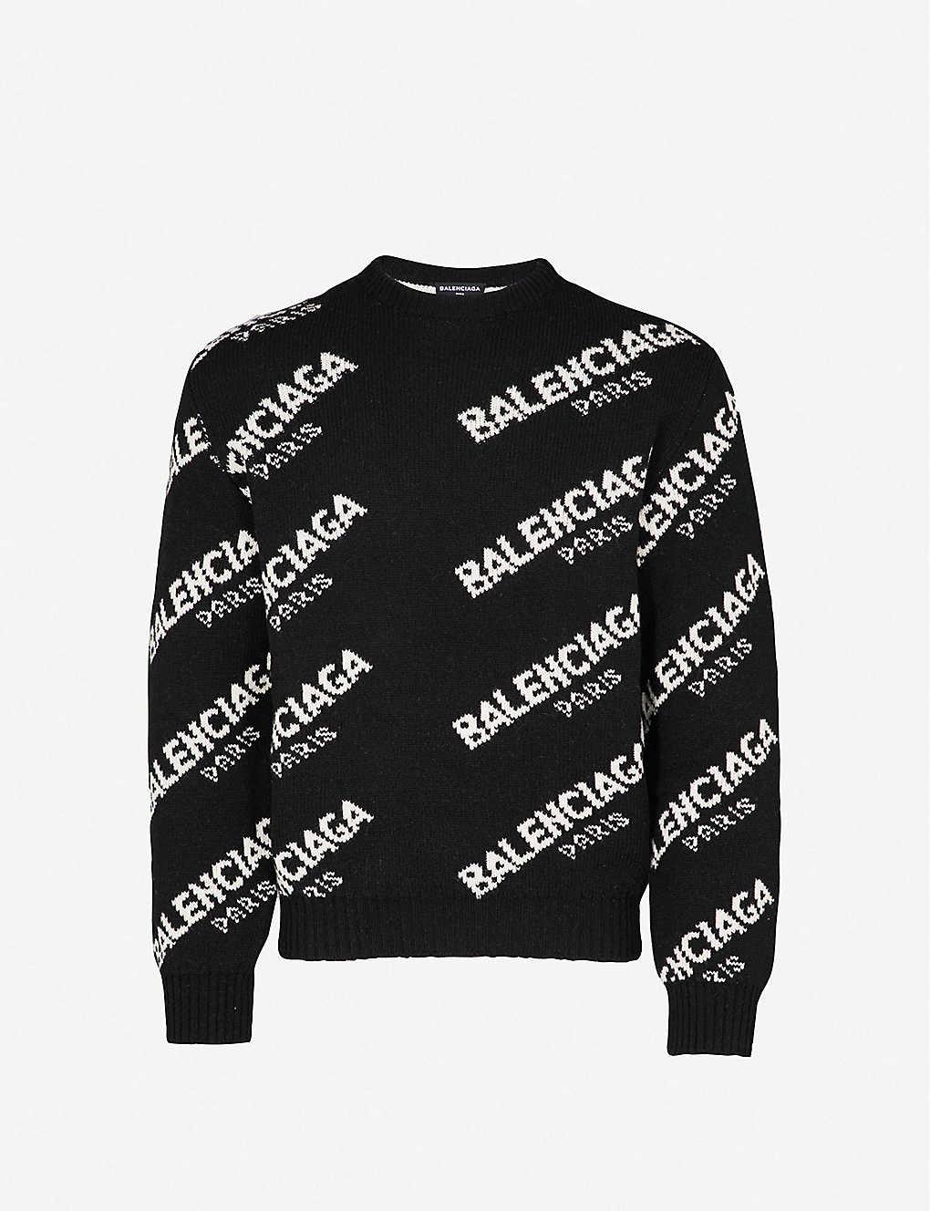1b1267e5d BALENCIAGA - Logo-motif knitted jumper