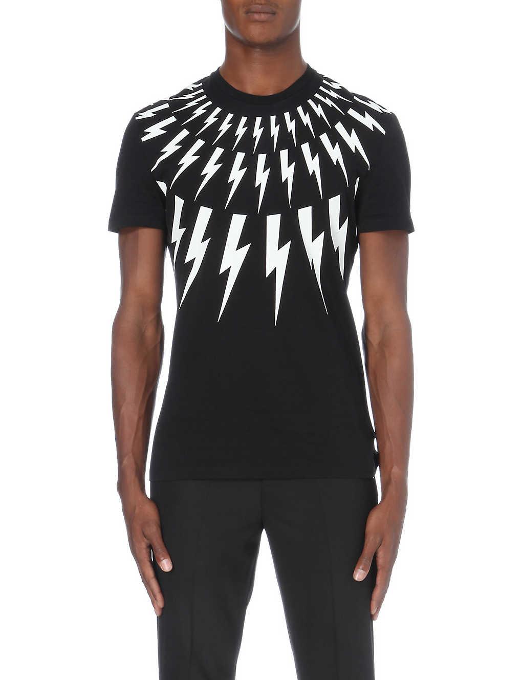 02d19f59 NEIL BARRETT - Lightning bolt t-shirt | Selfridges.com