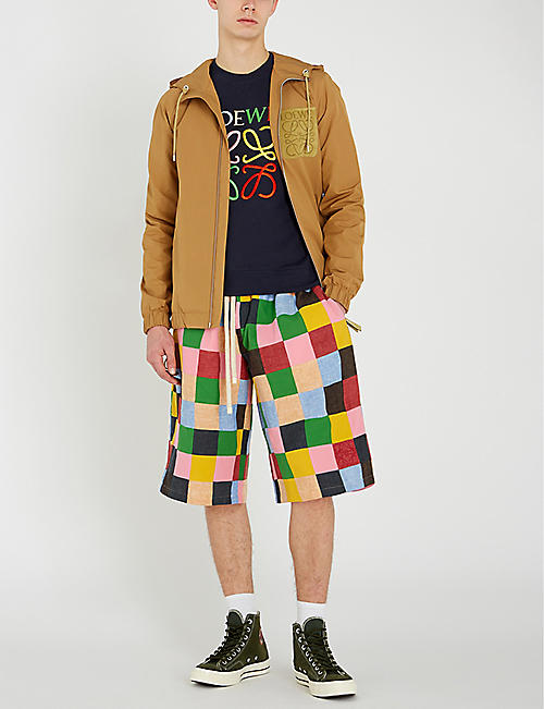 LOEWE Patchwork cotton shorts