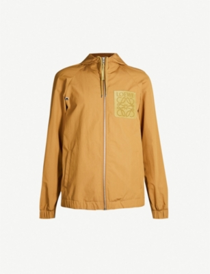 LOEWE Logo-patch cotton-blend hooded jacket