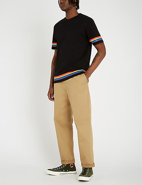 LOEWE Rainbow-stripe cotton-jersey T-shirt