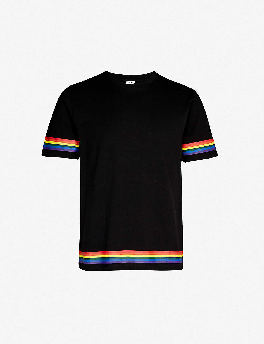16efbe5545 LOEWE - Rainbow-stripe cotton-jersey T-shirt | Selfridges.com