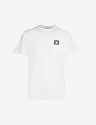 LOEWE: Logo-embroidered cotton-jersey T-shirt