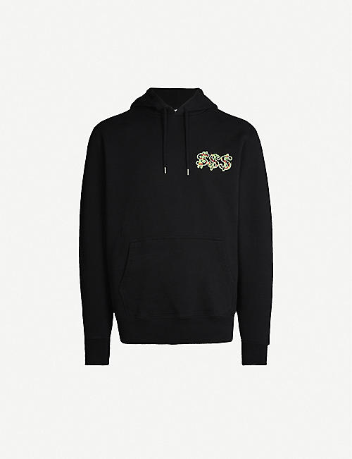 SSS WORLD CORP Logo-print cotton-jersey hoody