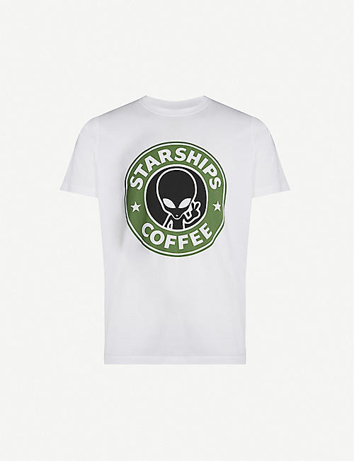 SSS WORLD CORP Starbucks graphic-print cotton-jersey T-shirt