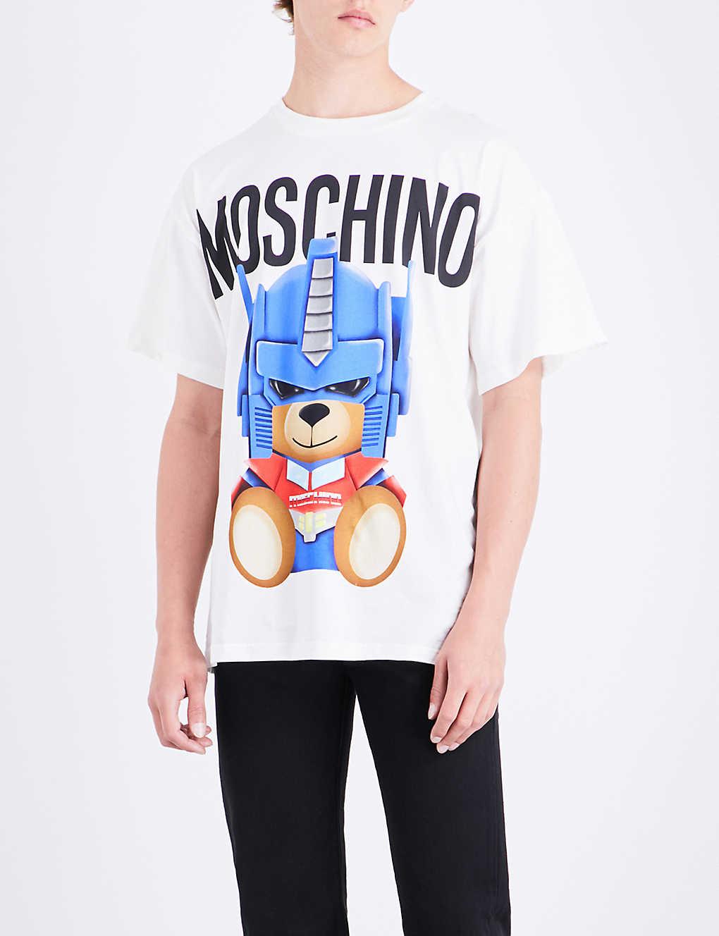 31d7c133e MOSCHINO - Transformer Teddy cotton-jersey T-shirt   Selfridges.com