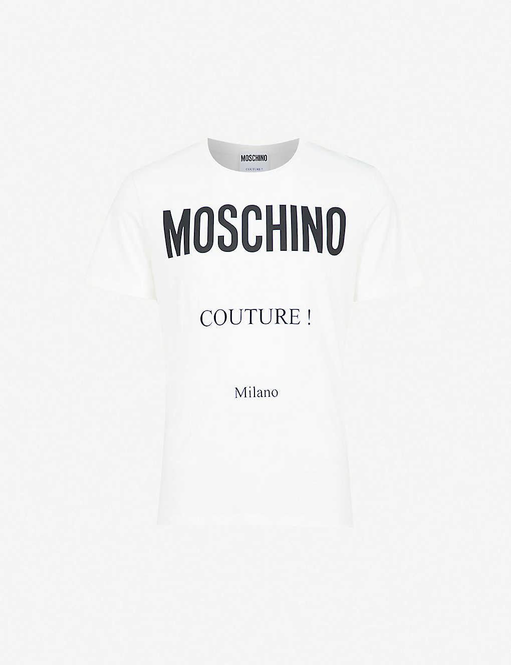 18e894df7d1 MOSCHINO - Couture Logo cotton-jersey T-shirt | Selfridges.com