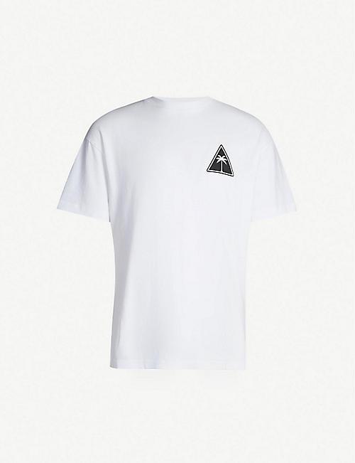 a1226b24d4bb71 PALM ANGELS Triangle logo-print cotton-jersey T-shirt