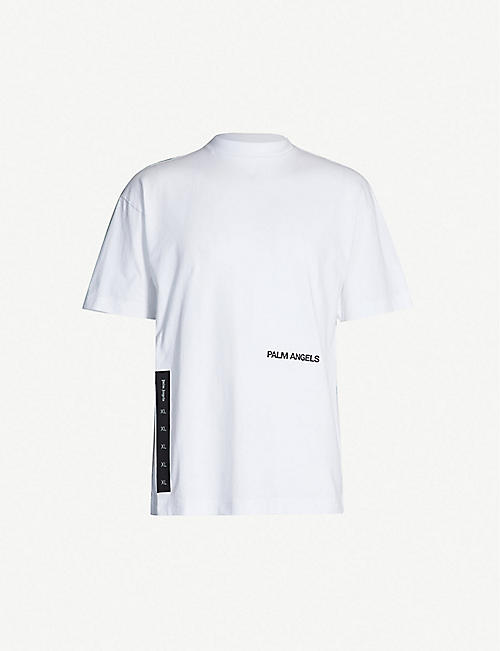 07cf19a1f3e448 PALM ANGELS Logo-print cotton-jersey T-shirt