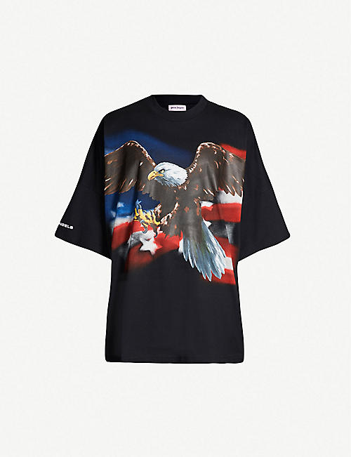 dfb716c35a2 PALM ANGELS Eagle-print oversized cotton-jersey T-shirt