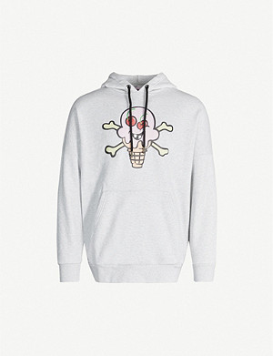 PALM ANGELS Palm Angels x ICECREAM graphic-print cotton-jersey hoody