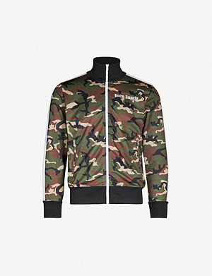 PALM ANGELS Camouflage-print stretch-jersey jacket