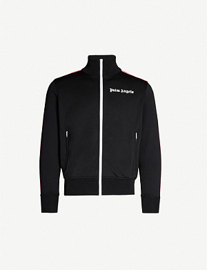 PALM ANGELS Logo-print sports-jersey jacket