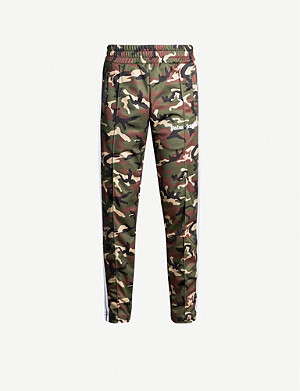 PALM ANGELS Camouflage-print slim-fit stretch-jersey jogging bottoms
