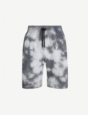 PALM ANGELS Tie-dye cotton-jersey shorts