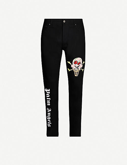 PALM ANGELS Palm Angels x ICECREAM graphic-print jeans