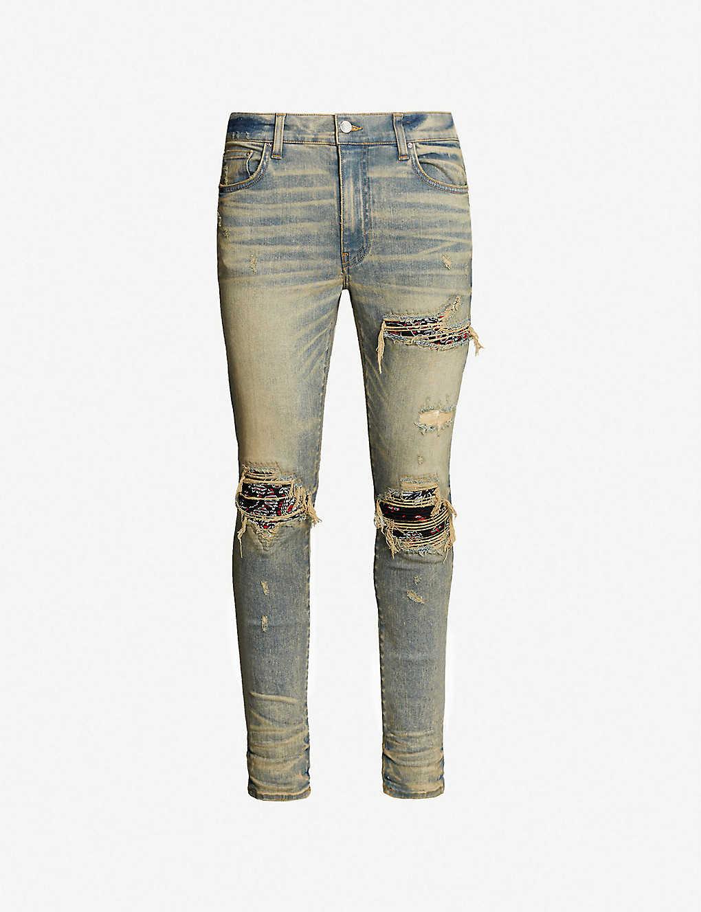 c2e3270e1a48 AMIRI - Bandana slim-fit skinny jeans