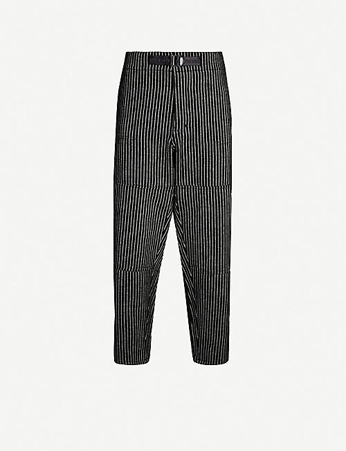 ENFANTS RICHES DEPRIMES Striped relaxed-fit wool trousers