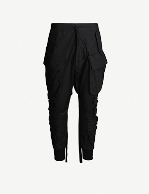 UNRAVEL Tapered cotton trousers
