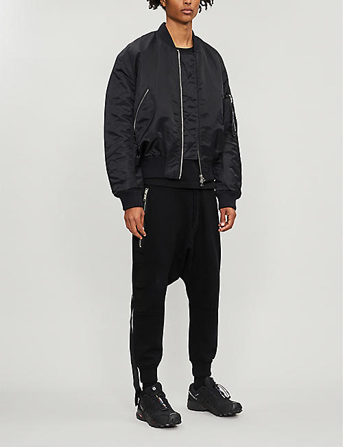 UNRAVEL Dropped-crotch cotton-jersey jogging bottoms