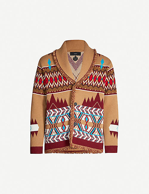 ALANUI Graphic-intarsia wool cardigan