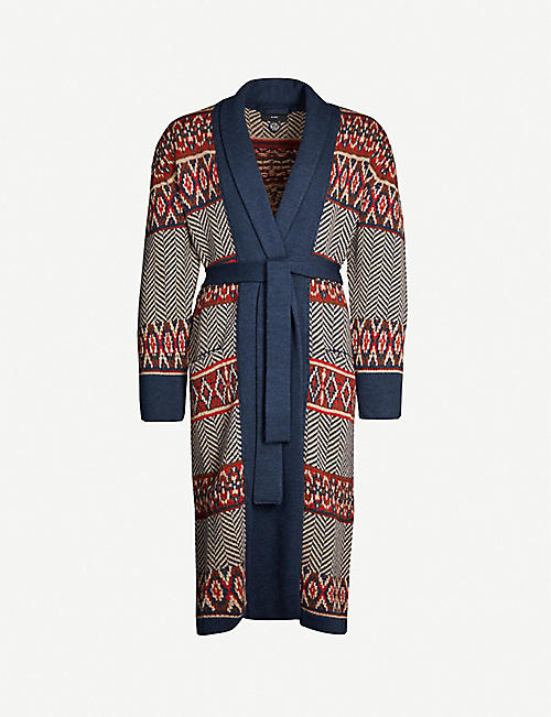 ALANUI Oversized embroidered wool cardigan