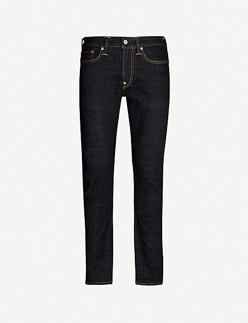 EVISU Logo-embroidered straight-fit jeans