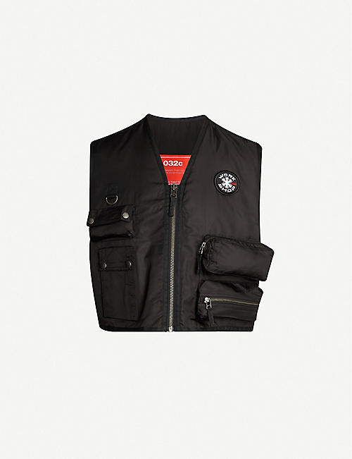 032C Rock Bottom logo-print nylon and cotton-blend gilet