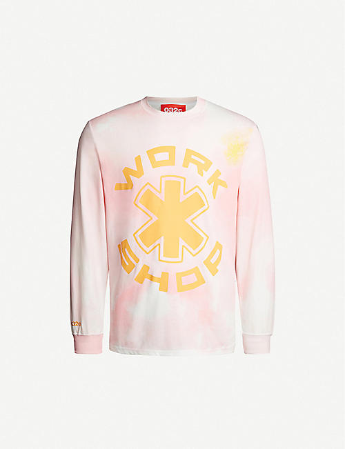 032C Cosmic Workshop Atomic tie-dye cotton-jersey sweatshirt