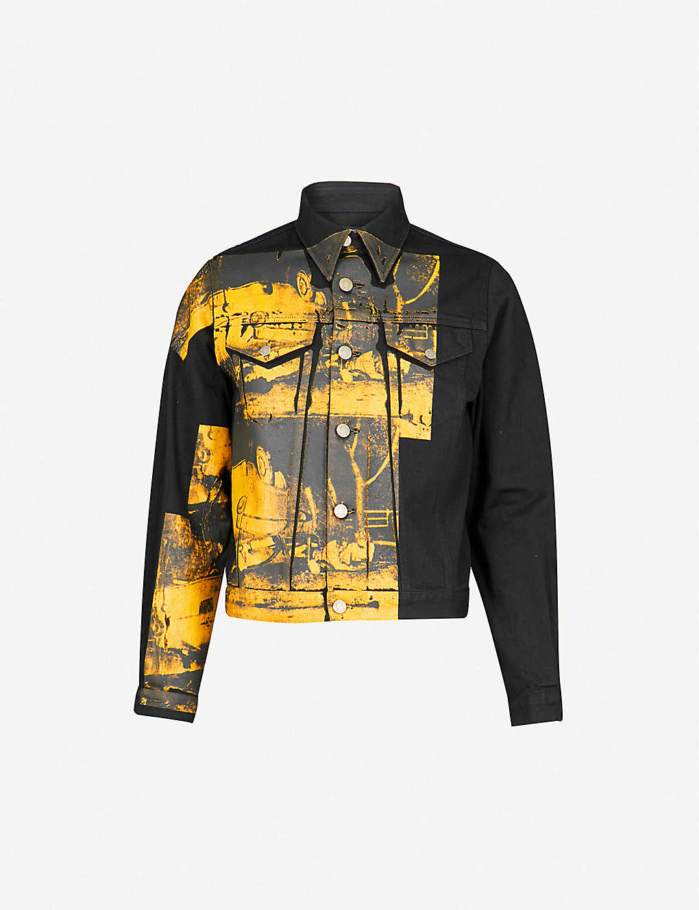 051335c76 CALVIN KLEIN 205W39NYC - Andy Warhol print denim jacket | Selfridges.com
