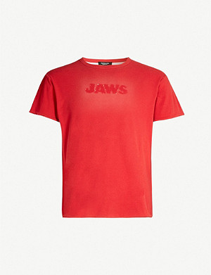 CALVIN KLEIN 205W39NYC Jaws faded cotton T-shirt