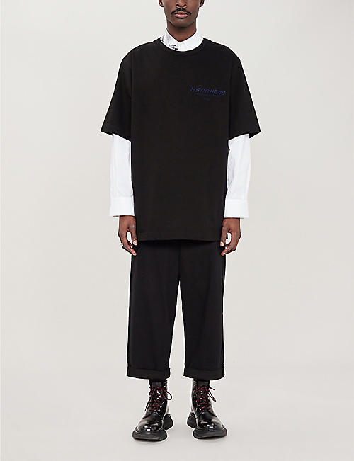JUUN J N'Synthetic oversized cotton T-shirt