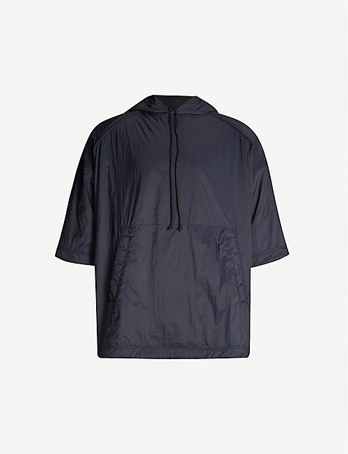 JUUN J Drawstring-hem shell hooded jacket