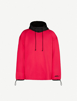 JUUN J Logo-embroidered cotton-jersey hoody