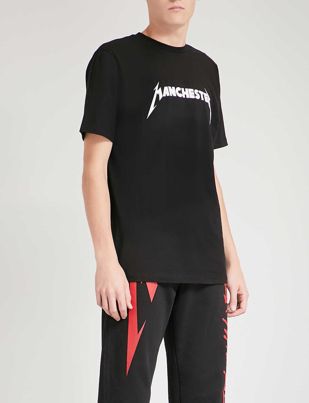 98fe74de METALLICA - Manchester cotton-jersey T-shirt | Selfridges.com
