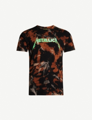 METALLICA Bleached cotton-jersey T-shirt