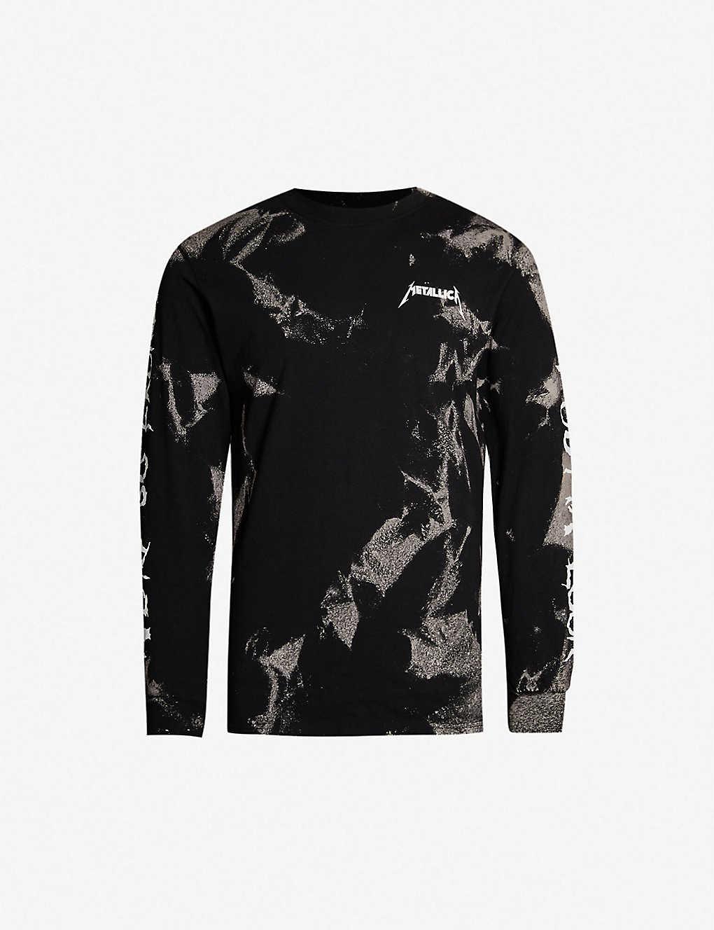 7bba5f2c METALLICA - Bleached logo-print cotton-jersey T-shirt | Selfridges.com