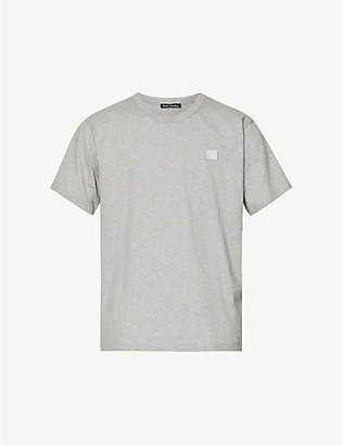 ACNE STUDIOS: Nash logo-patch cotton-jersey t-shirt