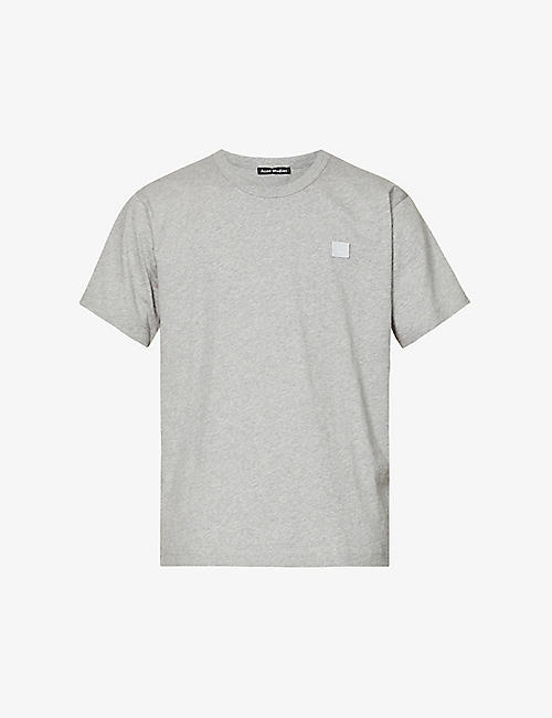 82d402db012d8 ACNE STUDIOS Nash logo-patch cotton-jersey t-shirt