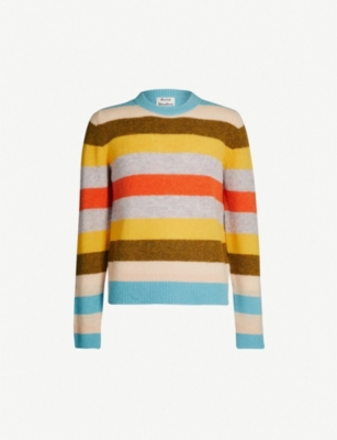 ACNE STUDIOS Kai striped wool jumper