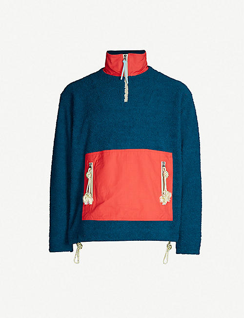 36db6c966a2 ACNE STUDIOS Colour-blocked fleece sweatshirt