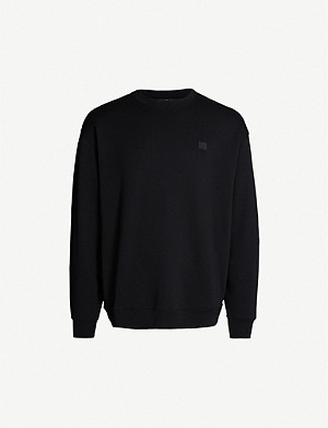 ACNE STUDIOS Forba logo-patch cotton-jersey sweatshirt