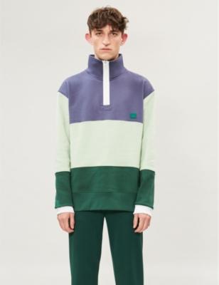 Flint Colour Blocked Cotton Jersey Sweatshirt by Acne Studios