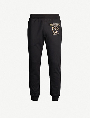 MOSCHINO Embroidered-logo woven jogging bottoms