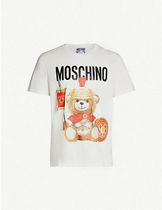MOSCHINO: Teddy crewneck cotton-jersey T-shirt