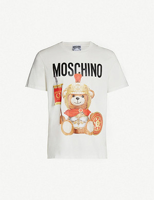 MOSCHINO Teddy crewneck cotton-jersey T-shirt
